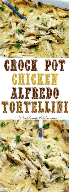 Crock Pot Chicken Alfredo Tortellini
