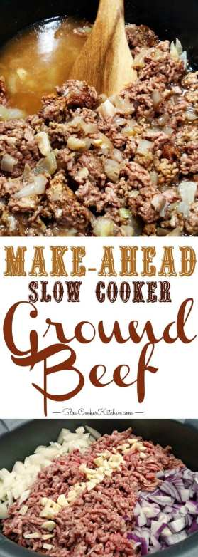 Make-Ahead Crockpot Ground Beef
