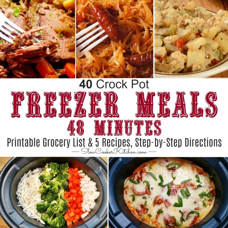 Easy Crock Pot Freezer Meal Cooking Session