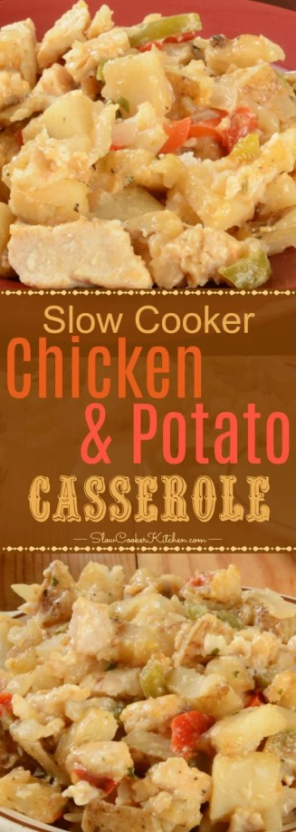 crock pot chicken and potato casserole