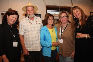 Wes Cochran, Donna Rosser with Anne Berry and friends