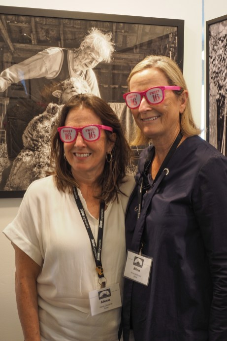 Our Jurors, Alexa Dilworth and Aline Smithson with their Sweet 16 eyeglasses © Myrtie Cope