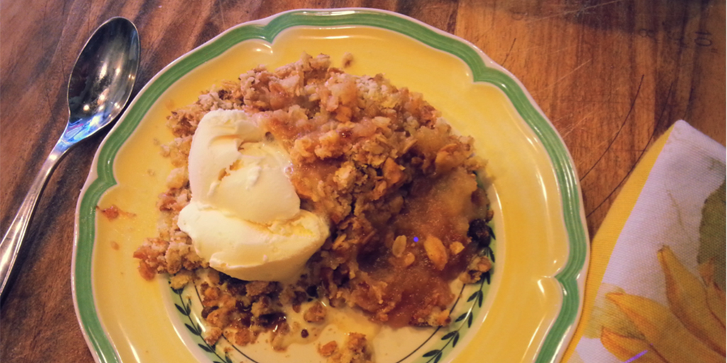 Gravenstein Apple Crumble Recipe