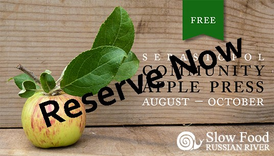 Reserve the Sebastopol Community Apple Press Now