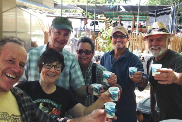 Last Saturday we volunteers pressed 3065 pounds of apples!