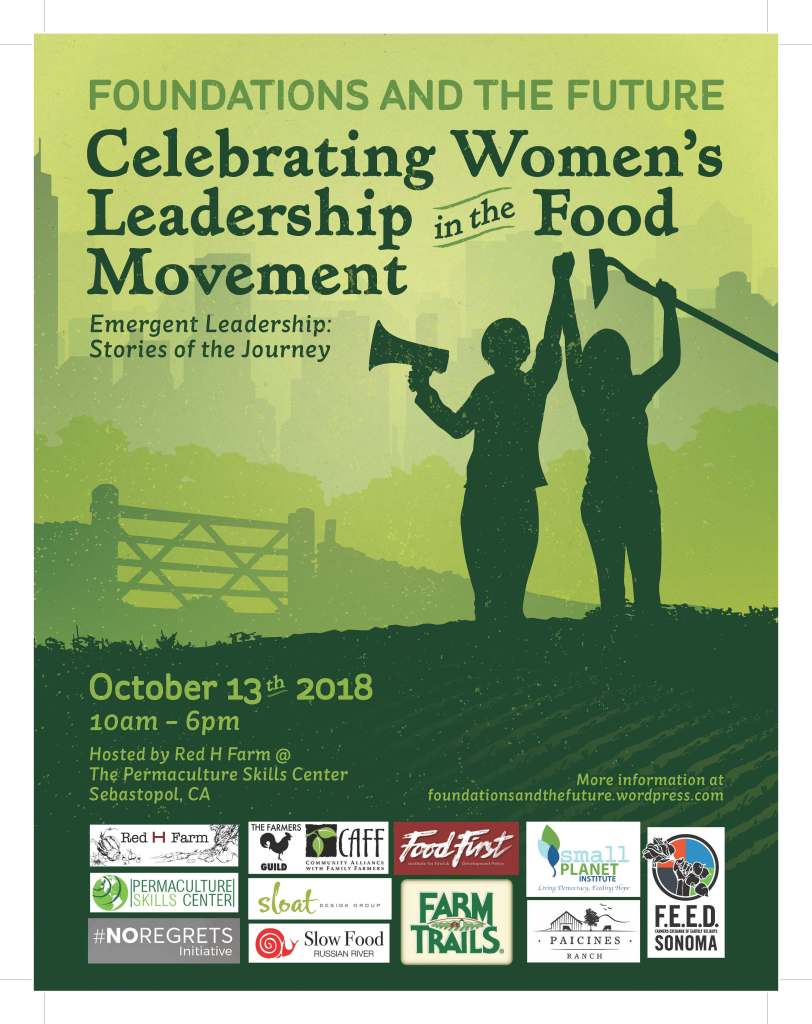 3rd Annual Symposium on Women's Leadership In The Food Movement – Saturday, October 13, 2018.