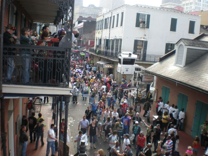 The view from above - early on Mardis Gras