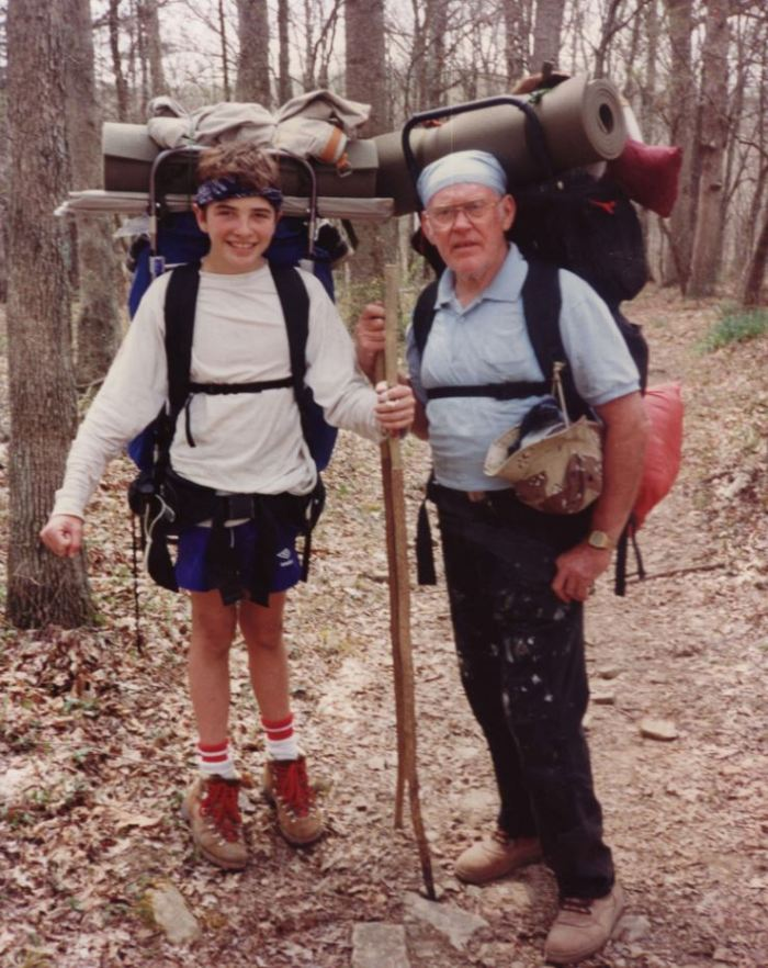 Grandad and a much, much younger Mr. SSC. He got me started hiking though.