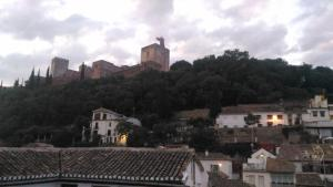 View of the Alhambra from our hotel room