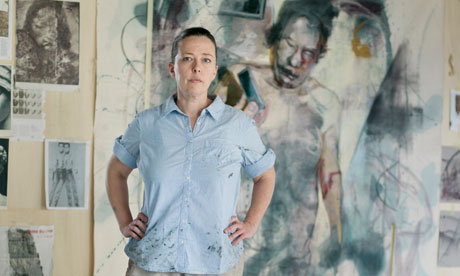 Jenny Saville in her Oxford studio