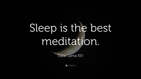sleep is the best meditation
