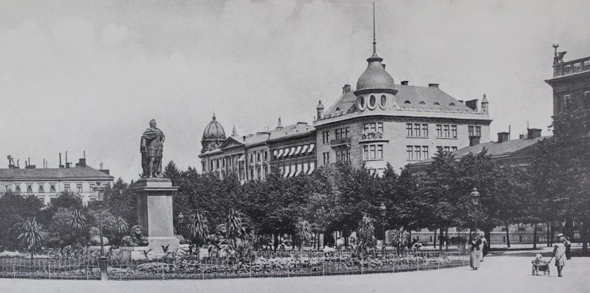 Time period: 1908, Created: 1908, Place:Kungsträdgården, Published by Stockholm City Archives