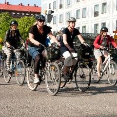 Biking in Stockholm