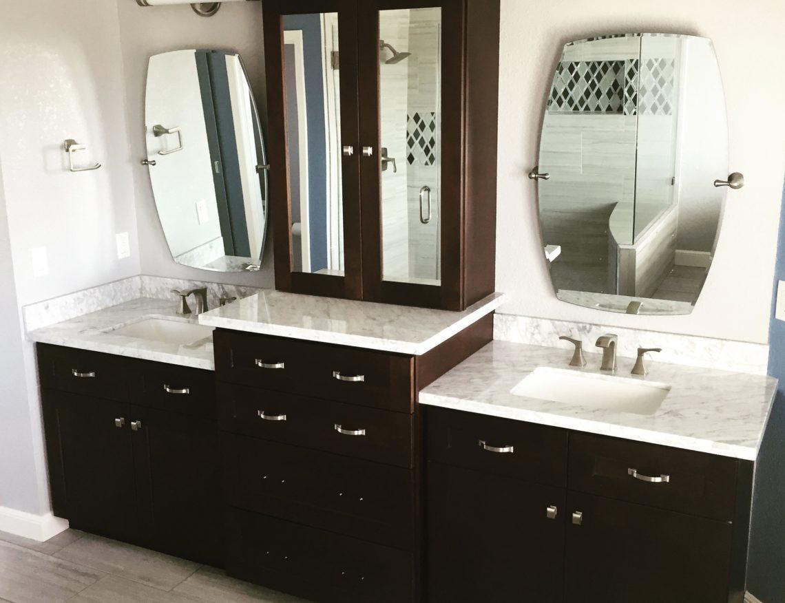 bathroom remodel sink vanity