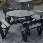 Easi Fit Round Picnic Table Second Life Recycled Products