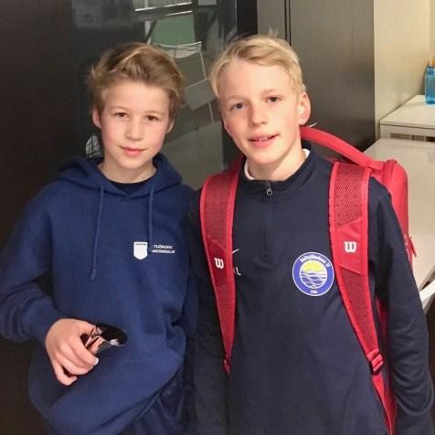 Olle Borgedahl t.v. kom 3:a i PS11. Här tillsammans med Felix Ljungström som gick till final.