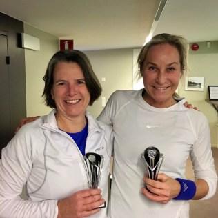 DSB-mästarinnan Jolande Svensson t.v. vann finalen mot Anna Danielsson.