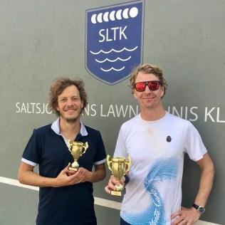 Kristoffer Källeskog t.h. vann finalen i HSB mot Patrik Segerström