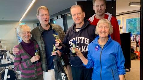 Och vinnarna... A-gruppen Jan Värmon och Gustav Myrsten och vinnare B-gruppen Ylva Ackell och Nanna Kjerrstadius