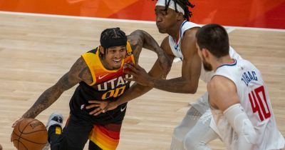 Utah Jazz trail Clippers 60-47 at halftime, as L.A. heats up from deep