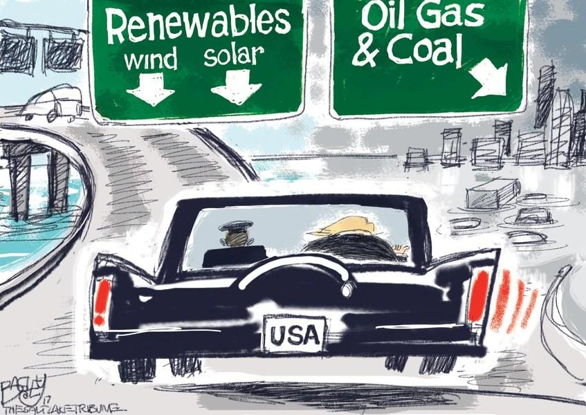 Bagley Cartoon: The Road Not Taken