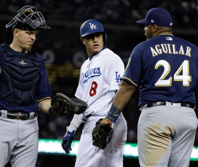 Dodgers Edge Brewers   Innings In Game  Of Nlcs