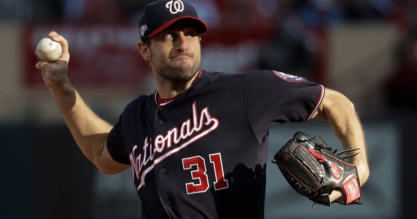 Max Scherzer takes no-hit bid into seventh; Nationals top Cardinals 3-1 for 2-0 lead in NLCS