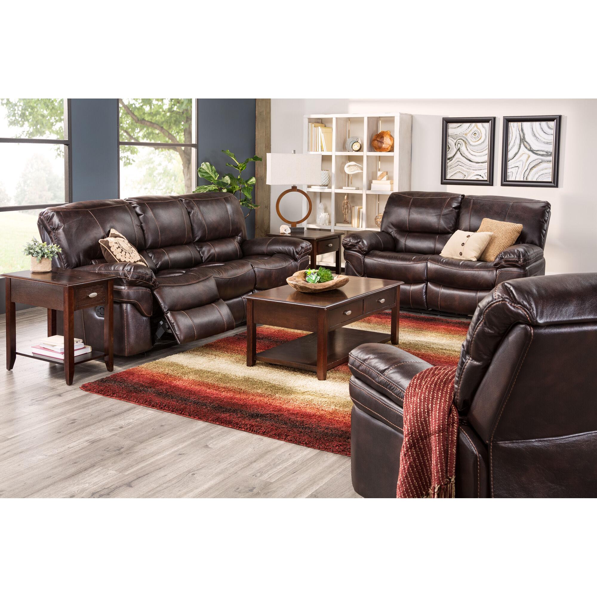 Slumberland Furniture Valdez Brown Reclining Sofa