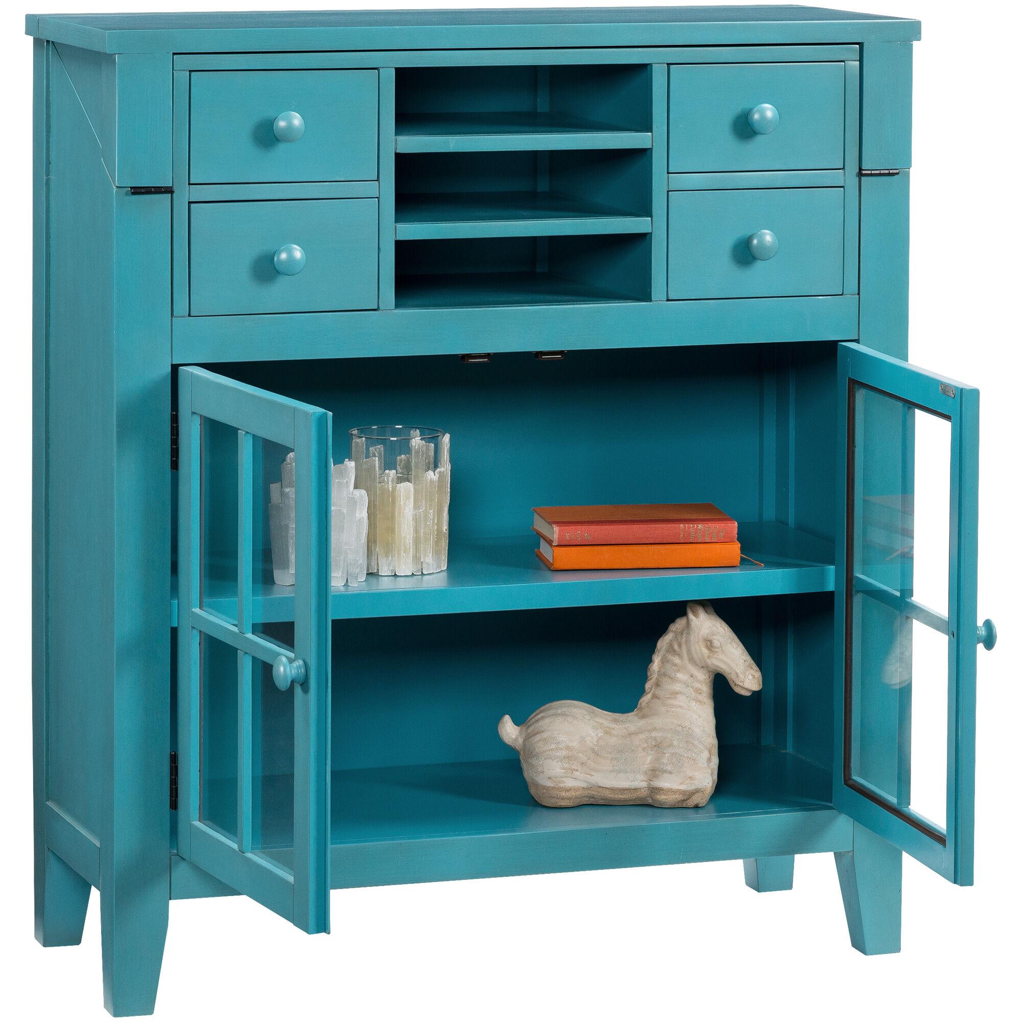 Slumberland Furniture Avery Blue Flip Top Desk