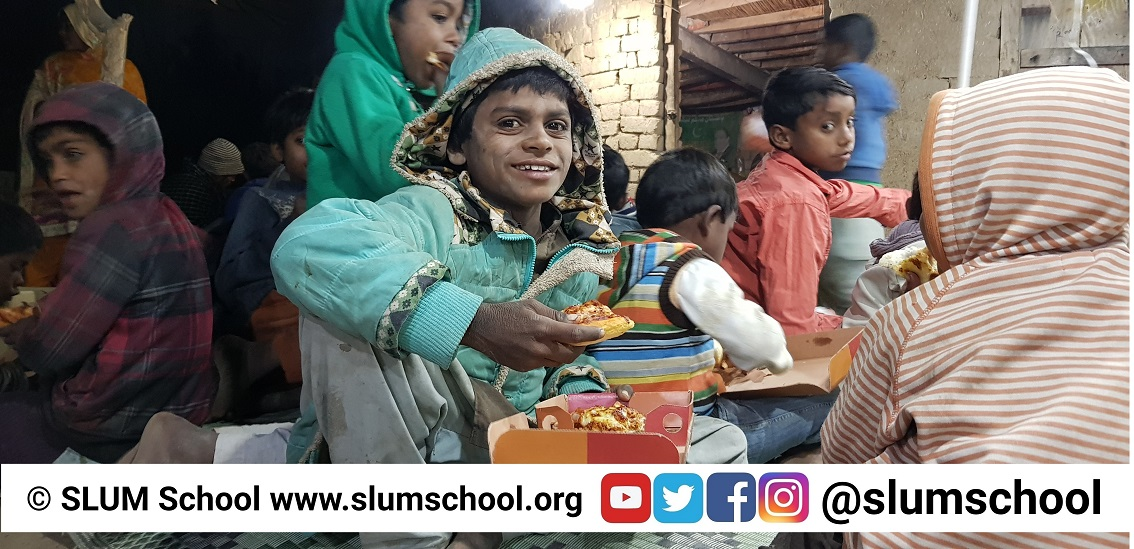 SLUM School Pizza Party Solar Night School