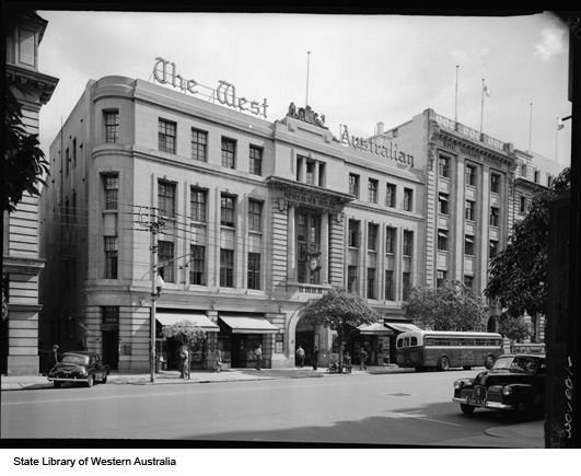 Newspaper House, home of The West Australian, 1957