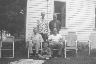 Maternal grandfather, dad, maternal uncle and cousin