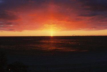 Fiery sunrise