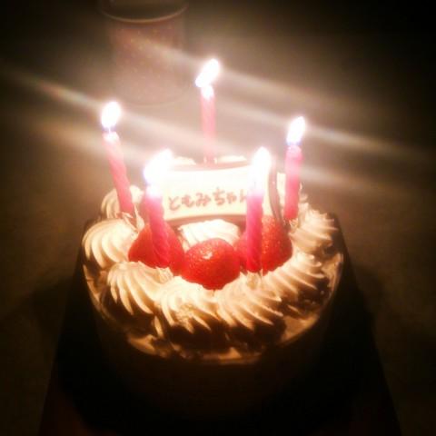 朋美ちゃんの誕生日ケーキ