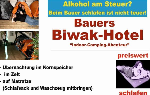 Bauer's Biwakhotel - preiswert schlafen