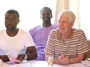 Fathers Samuel Madza, Joseph Ogungbe and Vincent Brennan