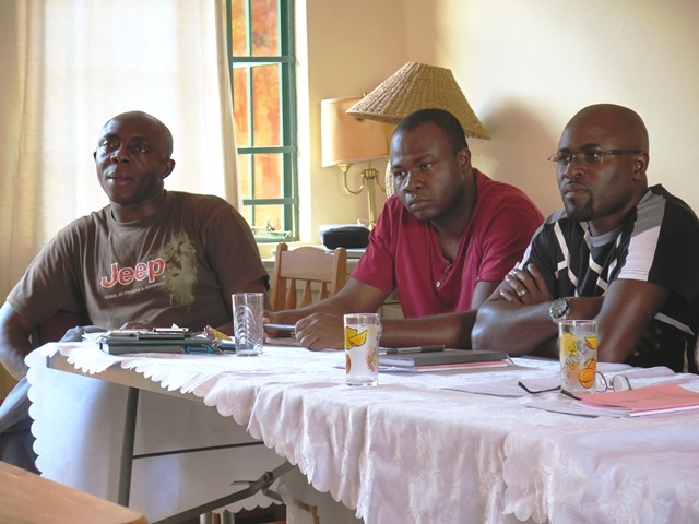 Fathers Pius Afiabor [Regional Superior], Emmanuel Dim and Fidelis Atolagbe, all from Nigeria
