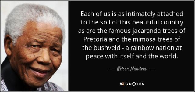 w.Nelson Mandela - Rainbow quote