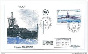 FFL Tonkinois, formally HMS Moyola, commemorated at a French First Edition in 2007