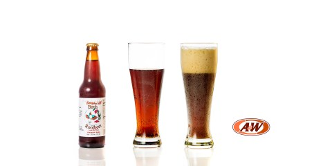 Hummingbird Hill Birch Root Beer compared to A&W
