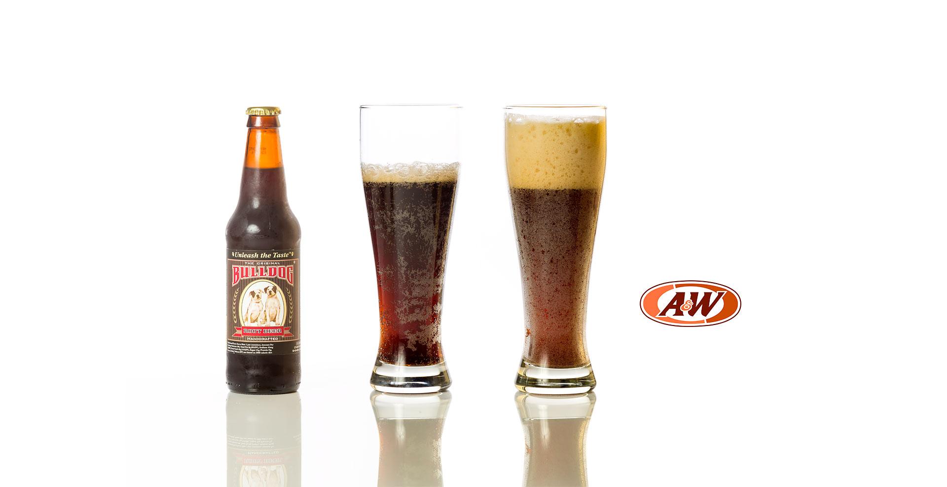 Bulldog vs A&W Root beer