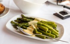 Asparagus with Meyer lemon hollandaise