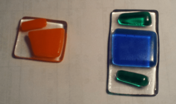 Tack Fused Glass Pendants After Coming Out Of The Kiln