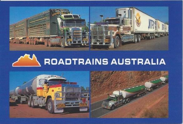 Roadtrains Australia Postcard