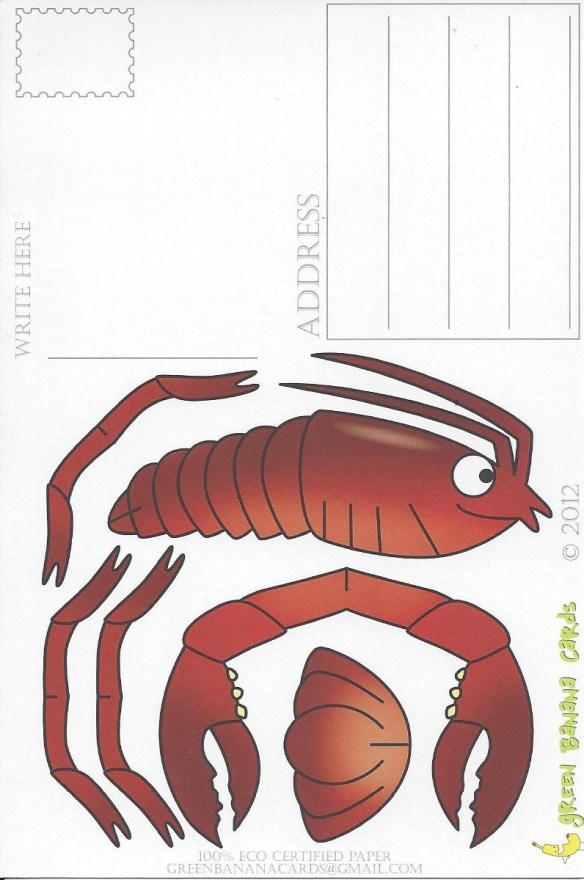 Mail a Lobster Postcard - Back