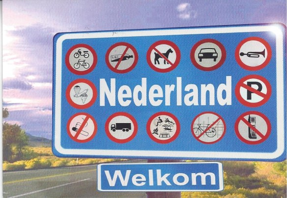 Dutch Street Signs Postcard