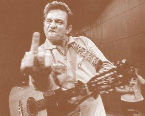 Johnny Cash - Live At Folsom Prison Giving the Finger Postcard