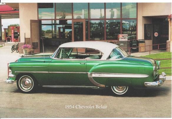 1954 Chevy Belair Postcard