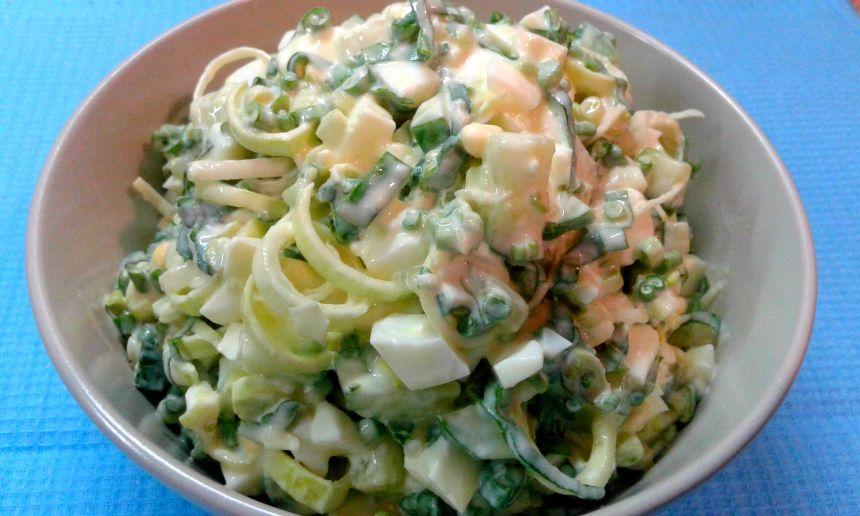 Салат із черемшею
