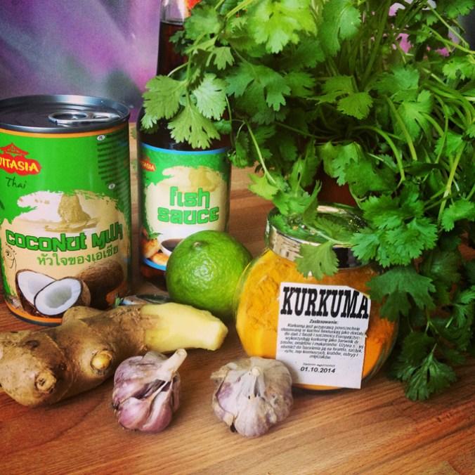 skladniki zupa tajska